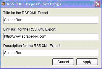 RSS XML Export Setting RSS XML 输出设置